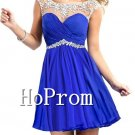 Short Mini Prom Dress,Beading Chiffon Prom Dresses