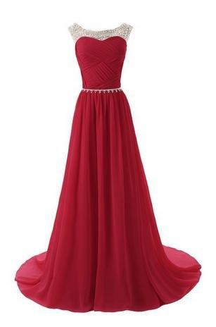 Floor Length Prom Dresses,A-Line Prom Dress