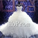 Strapless Tulle Prom Dresses,Ruffles Wedding Dresses