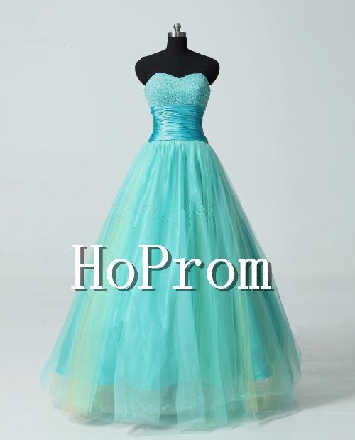 A-Line Prom Dresses,Bandage Tulle Prom Dresses