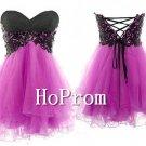 A-Line Prom Dresses,Applique Mini Prom Dresses