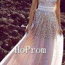 Strapless Sequin Prom Dresses,A-Line Prom Dresses