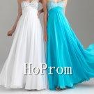 Blue White Prom Dresses,Strapless Prom Dress