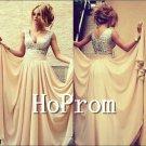 V-Neck Prom Dresses,Sleeveless Prom Dress