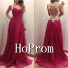 Backless Prom Dresses,A-Line Prom Dress