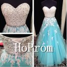 Pearls Beaded Prom Dresses,A-Line Prom Dress