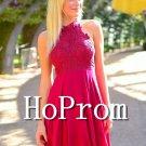 High Neck Prom Dress,Short Mini Prom Dresses