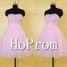 Sweetheart Pink Prom Dress,Short Bandage Prom Dresses