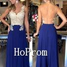 Sleeveless Backless Prom Dress,Royal Blue Prom Dresses