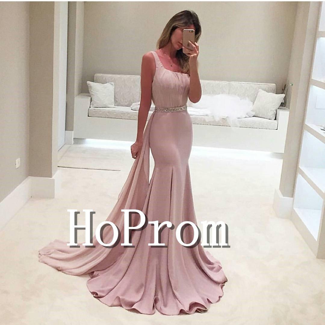 One Shoulder Prom Dress,Mermaid Long Prom Dresses