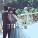Sleeveless Applique Prom Dress,Floor Length Prom Dresses