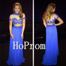 Short Sleeve Prom Dress,Two Piece Prom Dresses