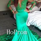Long Sleeve Prom Dress,Sparkly Mermaid Prom Dresses