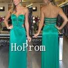 Sweetheart Long Prom Dress,Green Satin Prom Dresses