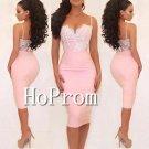 Spaghetti Straps Prom Dress,Short Lace Prom Dresses