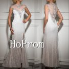 High Neck Prom Dress,Cap Sleeve Prom Dresses