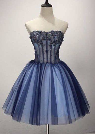 Sky Blue Long Two-Piece Sleeves Short Homecoming Dress