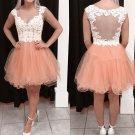 Lace Homecoming Dresses, Cute V-neck Short Prom Dress