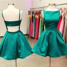 Sexy Open Back Homecoming Dress, Green Strapless Homecoming Dress