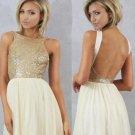 Tulle Homecoming Dress,Cute Sequins Short Bridesmaid Dress