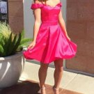 Red Off the Shoulder Homecoming Dresses
