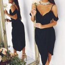 V Neck Homehoming Dress, Black Strapless Sexy Homehoming Dress
