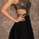 Sequin Chiffon Short Homecoming Dresses