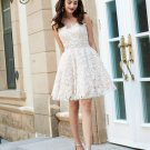 Sweetheart Sleeveless Rhinestone Lace Homecoming  Dresses