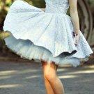 Baby Blue Lace Homecoming Dress, Chiffon Homecoming Dress