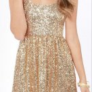 Golden Sequins Homecoming Dress, Short Sexy Homecoming Dress
