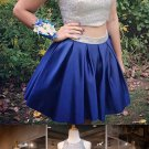 Two Piece Homecoming Dresses, Blue Homecoming Dress