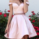 Sweetheart Two Pieces A Line Baby Pink Homecoming Dress