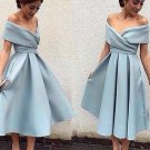 Off Shoulder Homecoming Dress, Baby Blue Sexy Homecoming Dress