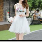 Strapless Short Homecoming Dress, White Appliques Homecoming Dress
