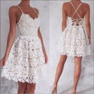 Lace Strapless Homecoming Dress, White Sweetheart Homecoming Dress