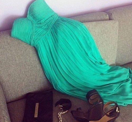 Green Sweetheart Homecoming Dress, Chiffon Homecoming Dress