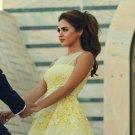 Yellow Apliques Homecoming Dress, Chiffon Short Homecoming Dress