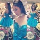 Short Homecoming Dresses Sweetheart Tulle Graduation Bow Waist Dress