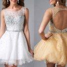 A-Line Homecoming Dresses 2017 Beaded Back Custom Made For Graduation Girls