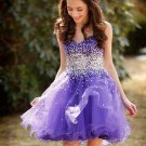 Girls Short Cocktail Dresses Lavender Purple Tulle Petite Dresses