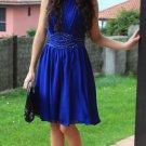 Scoop Neck A-line Chiffon Knee-length Beading Homecoming Dresses