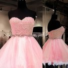 Sweetheart Tulle Ball Gown ShortMini Beading Homecoming Dresses