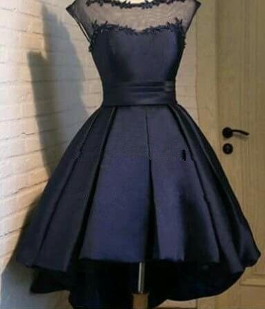 Black Backless Homecoming Dress, Sexy Homecoming Dress