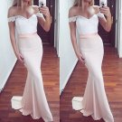 Lace Off the shoulder Prom Dress, Sweetheart Mermaid Prom Dresses