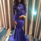 28e38c3bc3f Purple Long Sleeve Prom Dress