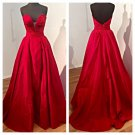 Strapless Taffeta Ball Gown Prom Dress Pageant Dress