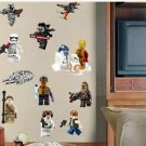 LEGO MOVIE Removable WALL STICKER 12 CHARACTERS Decal  Home Decor Art New
