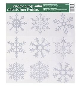 Silver Glitter Snowflake Window  Sheet