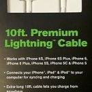 New 10ft Premium iPhone 6 5s SE Lightning USB Data Cable Charger
