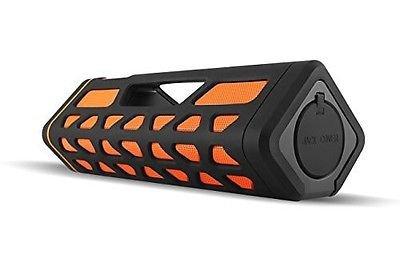 Wireless Bluetooth Speaker Extra Bass, Rechargeable Black/Orange